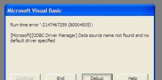 Data source name not found and no default driver specified